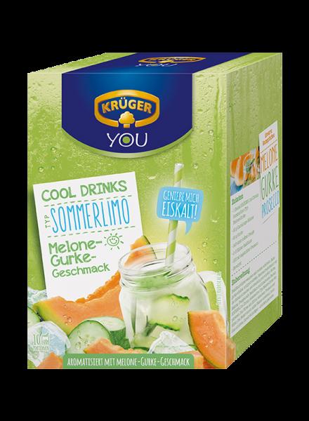 KRÜGER COOL DRINKS Sommerlimo Melone-Gurke 200g