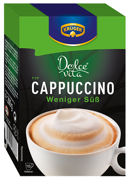 kr ger dolce vita cappuccino weniger s 150g kaffeespezialit ten kr ger online shop. Black Bedroom Furniture Sets. Home Design Ideas