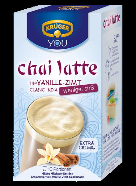 KRÜGER YOU chai latte Vanille-Zimt, weniger süß