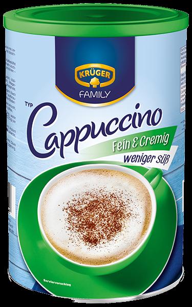 KRÜGER FAMILY Cappuccino Fein & Cremig weniger süß