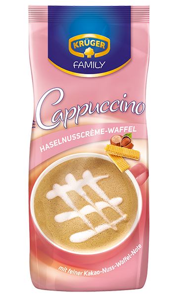 KRÜGER FAMILY Cappuccino Haselnuss-Waffel