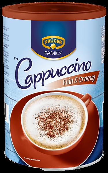 kr ger family cappuccino fein cremig 350g kaffeespezialit ten kr ger online shop. Black Bedroom Furniture Sets. Home Design Ideas