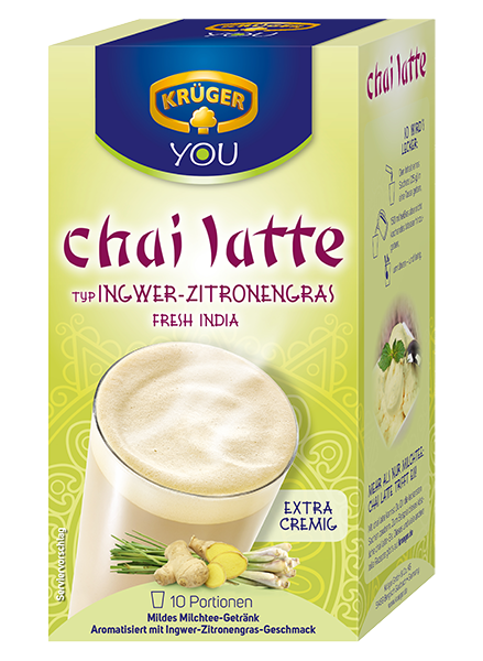 KRÜGER YOU chai latte Fresh India Ingwer-Zitronengras