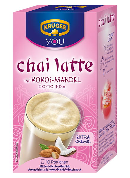 KRÜGER YOU chai latte Exotic India Kokos-Mandel