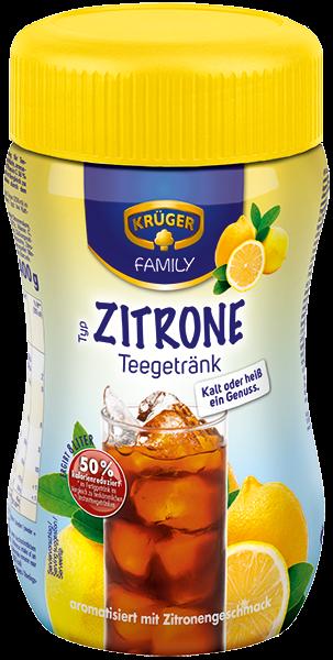 KRÜGER FAMILY Teegetränk Zitrone 50% kalorienreduziert