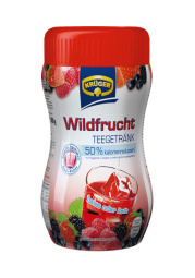Wildfrucht-Teegetränk, 50 % kalorienreduziert